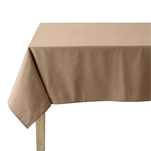 Coucke Nappe Ronde Uni Cappuccino Coton 180 cm