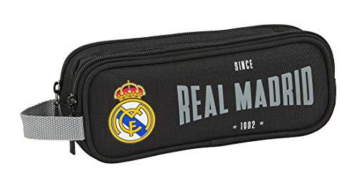 SAFTA 812024513 Estuche portatodo Doble 2 Cremalleras Escolar Real Madrid CF, Multicolor