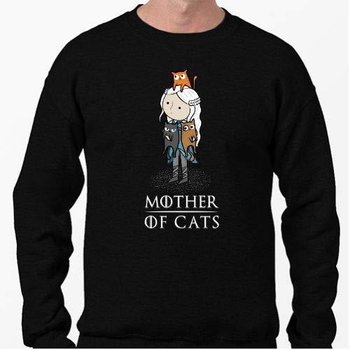 Positivos Sudaderas Jersey Mother of Cats - Madre de Gatos - S