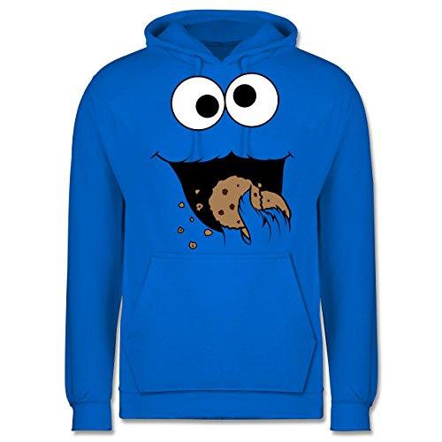 Shirtracer Karneval & Fasching - Keks-Monster - S - Himmelblau - Pullover männer - JH001 - Herren Hoodie und Kapuzenpullover für Männer
