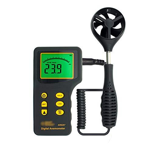 LJJOO Digital-Anemometer Hand Anemometer HVAC Windgeschwindigkeit Meter zur Messung von Windgeschwindigkeit Luftgeschwindigkeit Temperatur Luftdurchflussmesser