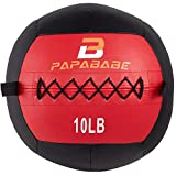 papababe Medicine Ball, Soft Wall Ball, 13'' Weight Ball for Cardio Workout and Rehab Core Training Ideal for Squat Lunges, Twists, Partner Toss(10 LB)