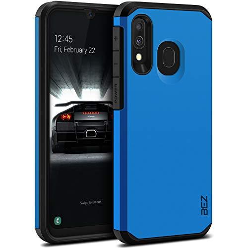 BEZ Samsung A40 Hülle, Tasche Stoßfestes Kompatibel für Samsung Galaxy A40, [Heavy Duty Serie] Outdoor Dual Layer Armor Hülle Handy Schutzhülle Robuste, Blaue Marine