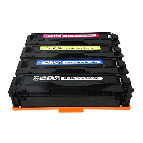 4 Pack Compatible for HP410A CF410A CF411A CF412A CF413A Toner Cartridge...
