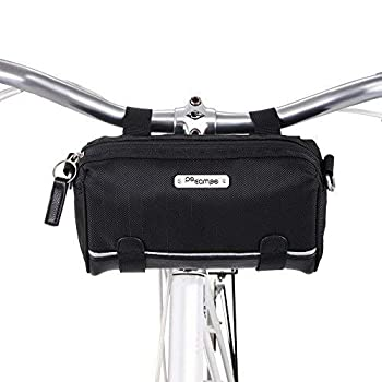 Po Campo Bags Bike Accessories - Kinga Front Frame Handlebar Bag – Bicycle Phone Pouch – Waterproof Handle Bar Bicycle Storage Bag – Front Mount Bag That converts to Crossbody Purse or Messenger Bag
