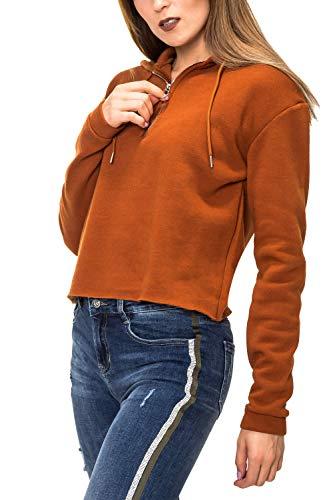 Hailys Damen Hoodie Kapuzenpullover Sweatshirt (S, Caramel)