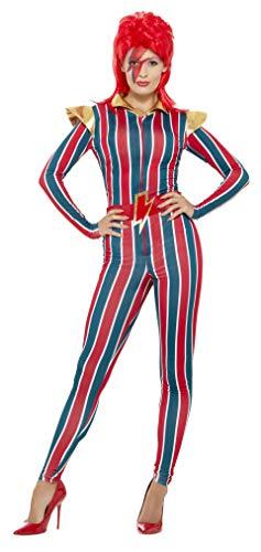 Smiffys Damen Weltraum Superstar Kostüm, Jumpsuit und Gürtel, Größe: 40-42, 43859