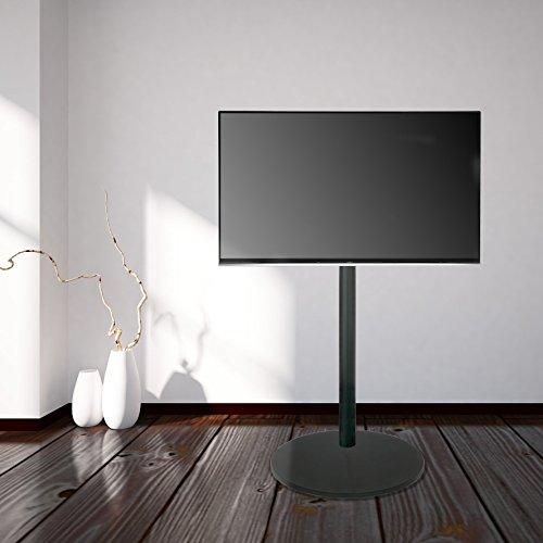 Cavus CAVF11C21M11 VESA 200 - Soporte de Suelo para TV (Base Redonda, 120 cm), Color Negro