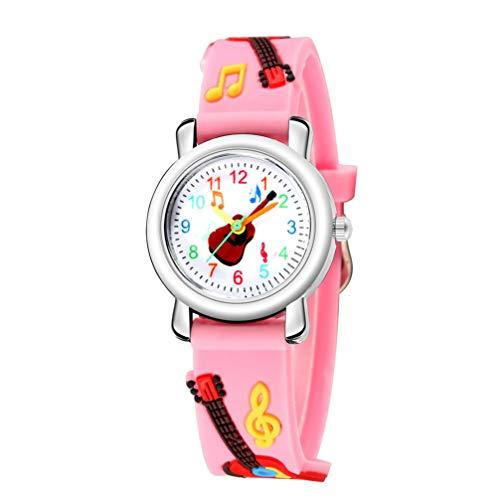 NICERIO Niños Relojes Niños 3D Nota Musical Reloj de Pulsera Niño Reloj Analógico para Niños Pequeños Niños Niñas