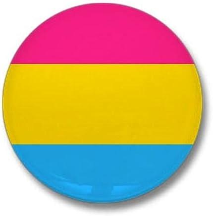"""CafePress Pansexual Pride Flag Mini Button 1"""" Round Mini Button"""