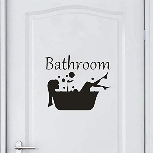 Bodhi2000 - Adhesivo Decorativo para Pared, diseño de Dama de baño