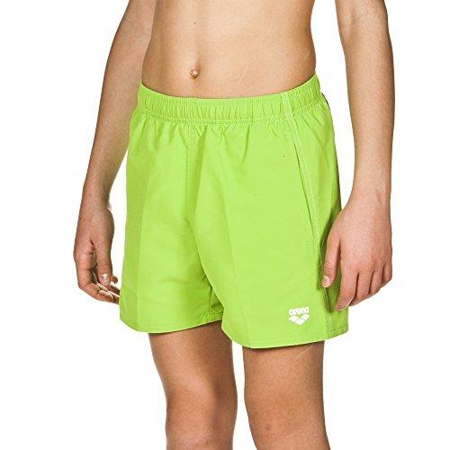 arena Jungen Badeshortss Fundamentals Boxer (Schnelltrocknend, Seitentaschen, Kordelzug, Weiches Material), Leaf-White (60), 128