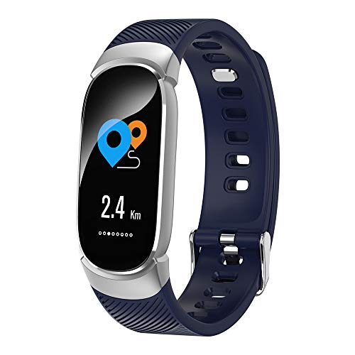 Kariwell Smart Watch for Android iOS - Sports Fitness Activity Heart Rate Tracker Blood Pressure Watch for Running Football Basketball Badminton Swimming Riding Climbing Kari-55 (Silver)