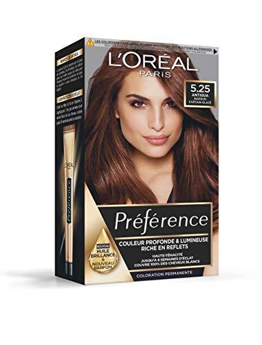 L'Oréal Paris Préférence Coloration Permanente Cheveux, Nuance : Antigua (5.25), Marron Chocolat Glacé