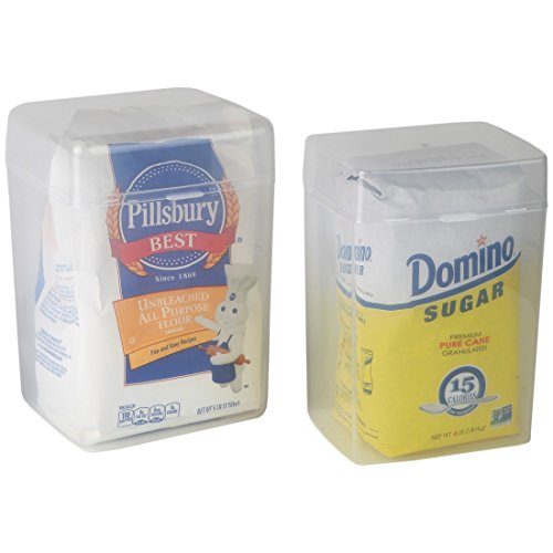Home-X Set of 2-1 Flour Keeper and 1 Sugar Keeper Plastic Storage Container