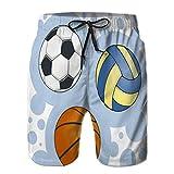Tronco de natación de Verano para Hombre con Bolas para fútbol, Voleibol y Baloncesto M