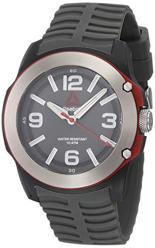 REEBOK Reloj 300CT gris para hombre, caja de 47 mm, cara gris, caja de fibra de carbono, correa de silicona gris, esfera gris tiburón (RD-3CT-G2-PBIA-A1)