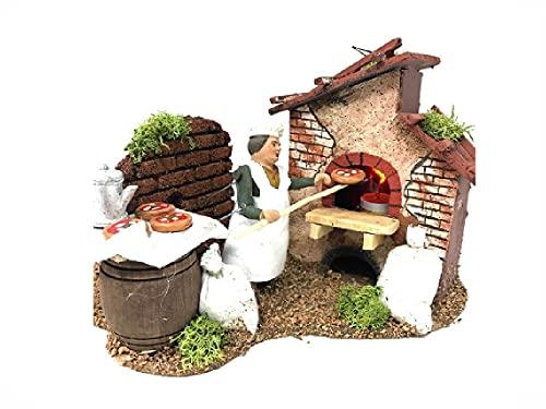 Recibirá 1 mestiere pizzero para pastores de 10 cm de alto, terracota...