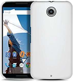 Orzly - Exec-Armour Hard Back CASE for Nexus 6 - Solid Back Protective Cover Phone Case in White - Made by Orzly to Custom Specs of The Motorola/Google Nexus 6 Smartphone (2014 Model)