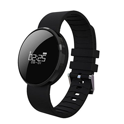 Corazón ritmo Bluetooth inteligente pulsera reloj deportivo paso calorías impermeable nueva lista de seguimiento de movimiento, el análisis del sueño , black