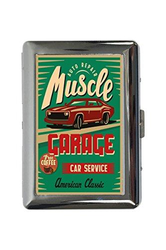 pitillera cigarrera Garage Diseño Servicio del coche del músculo impreso