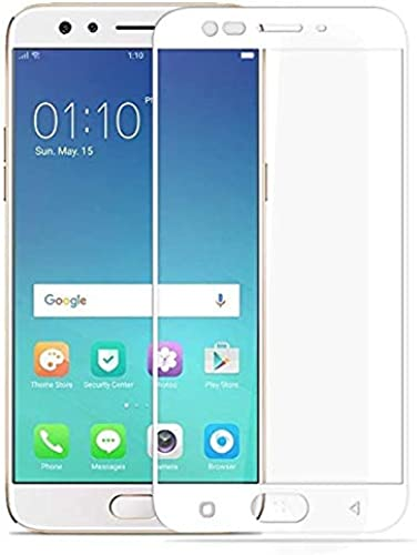 LINLO OG Super Gorilla Tempered Glass Screen Protector Full HD Quality Edge To Edge Coverage Compatible For Oppo F3 Plus White