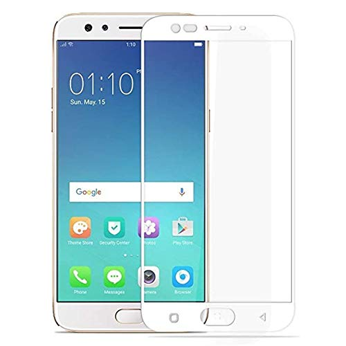 LINLO OG Super Gorilla Tempered Glass Screen Protector Full HD Quality Edge to Edge Coverage Compatible for Oppo F3 Plus (White)