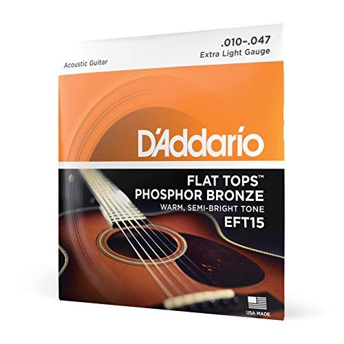 D'Addario EFT15 Flat Tops Phosphor Bronze Acoustic Guitar Strings,...