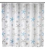 WENKO Duschvorhang Bella Mare - wasserdicht, leicht zu pflegen, Polyethylen-Vinylacetat, 180 x 200 cm, Mehrfarbig