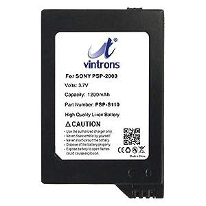 VINTRONS Rechargeable Battery 1200mAh For Sony PSP-S110, PSP 2th, PSP-3000, Silm, Lite, PSP-2000, PSP-3004