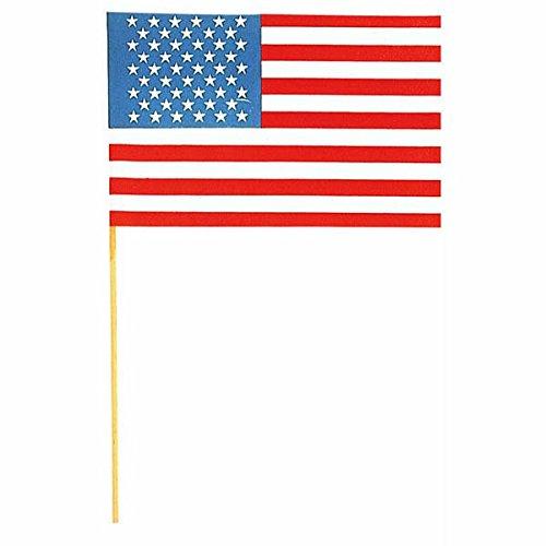Amscan 15 x 22 cm Drapeau Américain Accessoire de fête