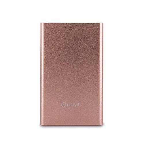 Muvit MUCHP0108 - Batería Externa de 3000 mAh con Cable USB, Color Gold