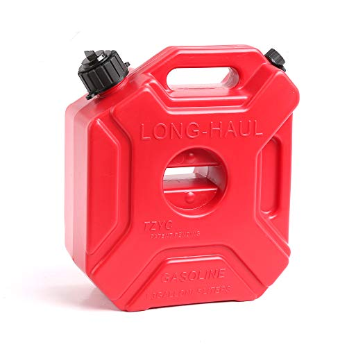 WINTOOLS 5 L/1.3 Gallon Gasoline Pack Gas Container Fuel Can (Red)