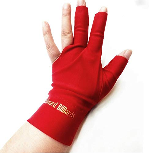 juman634 3 Finger Billard Handschuh Snooker Queue Shooter Handschuhe für Männer Frauen, 4 Farben