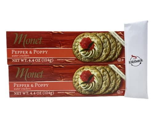 Monet Direct store NEW Cracker Water Pepper Poppy - Trans Fat Thins Zero Snack