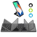 Foldable Bluetooth Keyboard with Touchpad - Samsers Portable Wireless Keyboard with Stand Holder