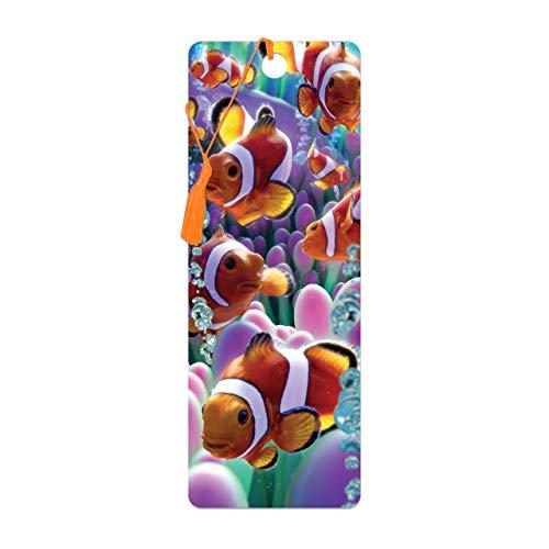 3D LiveLife Bookmark - Clownfisch von Deluxebase. Ein Lesezeichen für Clownfische mit linsenförmigen 3D-Kunstwerken, lizenziert von dem bekannten Künstler David Penfound