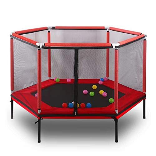 SPOLY vouwtrampoline voor kinderen, indoor kindertrampoline met omheining Net Mini Fitness trampoline voor kinderen maar leuk genoeg