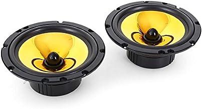 auna Goldblaster 6.5 Altavoces para Coche - Potencia máx. 2 x 600 W , SPL 99 dB , 280 g , 62 mm , 1 x vía Audio Altavoz , Bobinas ASV , Neodimio , Negro Dorado