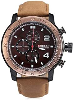 Curren Men's Brown Dile Leather Strap Watch 8190