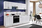 Muebles de Cocina Completa Bona Blanco 240 cm