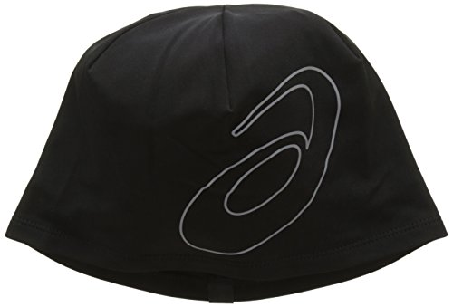 ASICS Logo Beanie, Performance Black, One Size