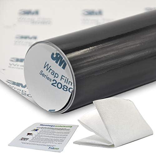 Auto Folie 3m 2080 Glanz Schwarz Streifen Ultrafeines Microfasertuch 30x150cm 3m 2080 G12 43 84 M Auto