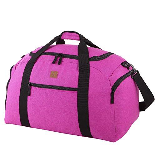 Rada Reisetasche Discover L 60 Liter Volumen, Wasserabweisende Sporttasche für Junge und Mädchen, Reisetasche und Businesstasche für Damen und Herren (Maße: 62x33,5x31,5cm) n (pink)