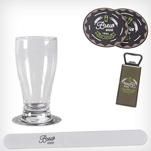 DRULINE bierglas cadeauset bier glas flesopener onderzetter bierschuimschuimschuimschaaf Sterkbier