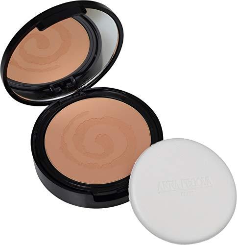 Pó Compacto Facial Vegano 3em1 BB CC DD Protetor Solar Tonalizante FPS54 Bronze 15g - Anna Pegova