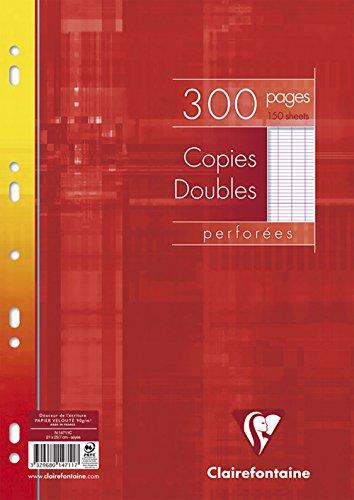 Clairefontaine A4Seyes liniert Universallochung Doppel Blatt–weiß (Pack, 150Blatt,)