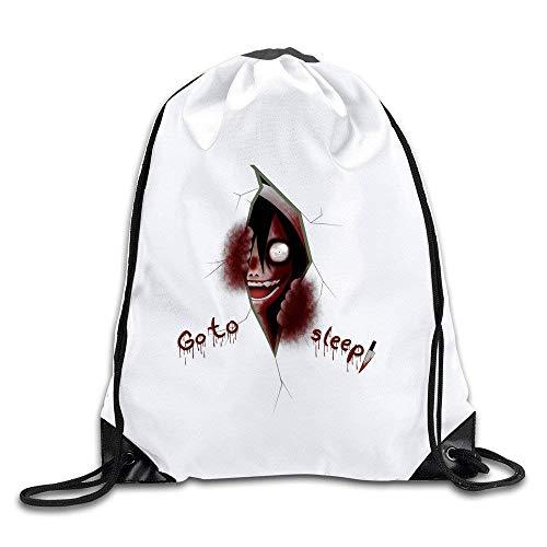 Sporttaschen Turnbeutel Creepypasta Jeff The Killer Watching You Drawstring Backpack Bag Fashion