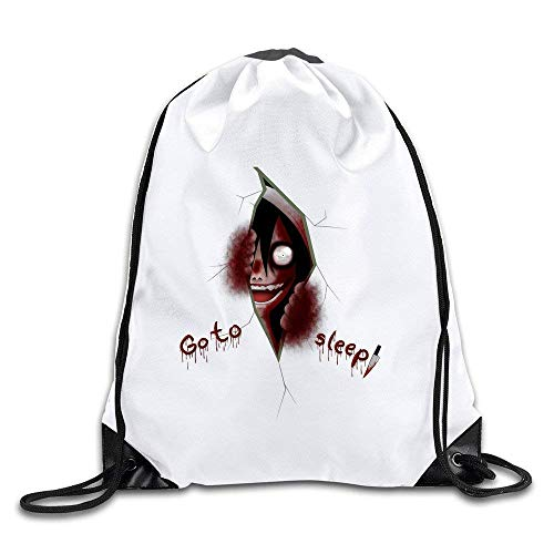 Sporttaschen Turnbeutel Creepypasta Jeff The Killer Watching You Drawstring Backpack Bag Fashion
