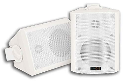 E-Lektron EWL4P Stereo passiv Lautsprecher Paar inkl. Wandhalter für innen und außen - 4